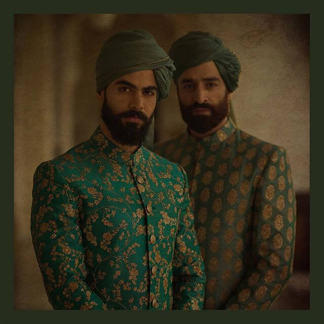 Sabyasachi Green Sherwani - The Grand Trunk
