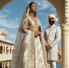 Load image into Gallery viewer, Sabyasachi Pale Mint Lehenga - The Grand Trunk