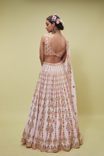 Load image into Gallery viewer, PINK GEORGETTE LEHENGA SET - The Grand Trunk