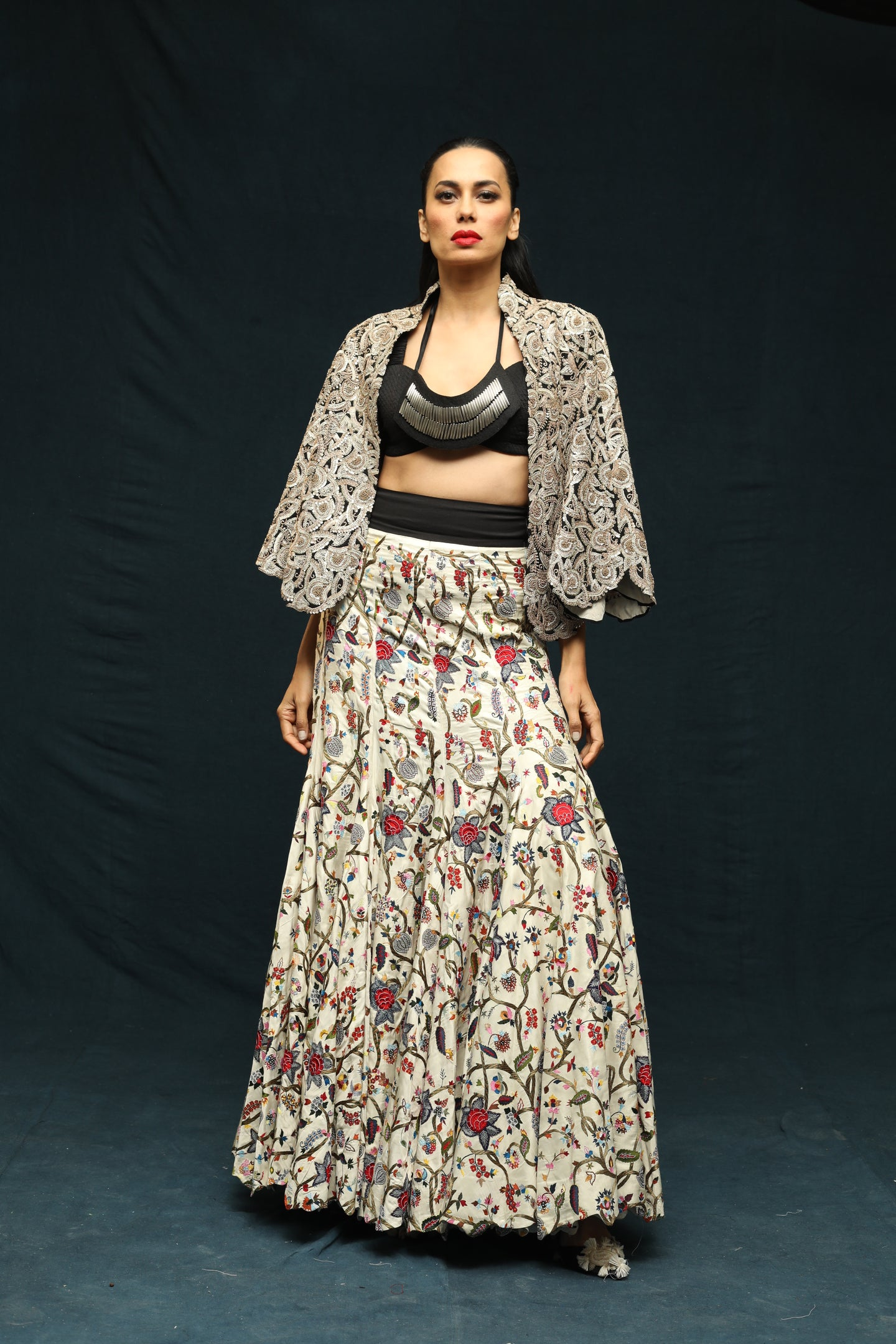 Gold Cord Dori Capelet With Skirt Set - The Grand Trunk