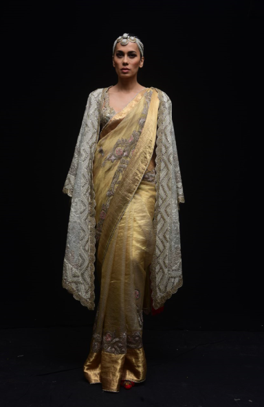 Zari Kota Zardosi Sari - The Grand Trunk