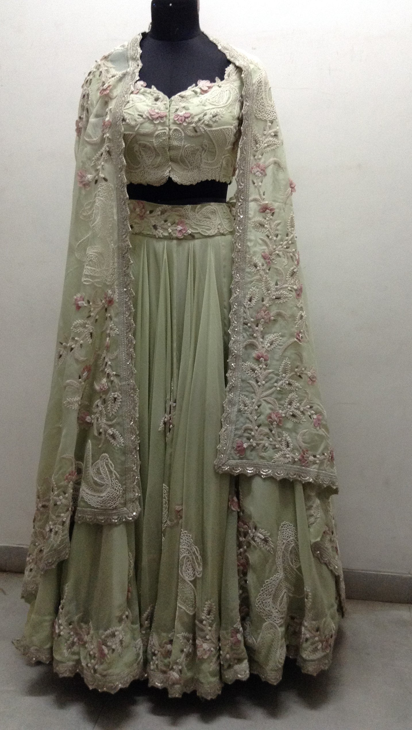 Organza 3D Tulip Lehenga - The Grand Trunk