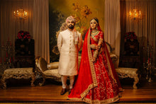 Load image into Gallery viewer, Real Bride Sanjida and Groom Sayeed in Sabyasachi @ The Grand Trunk - The Grand Trunk