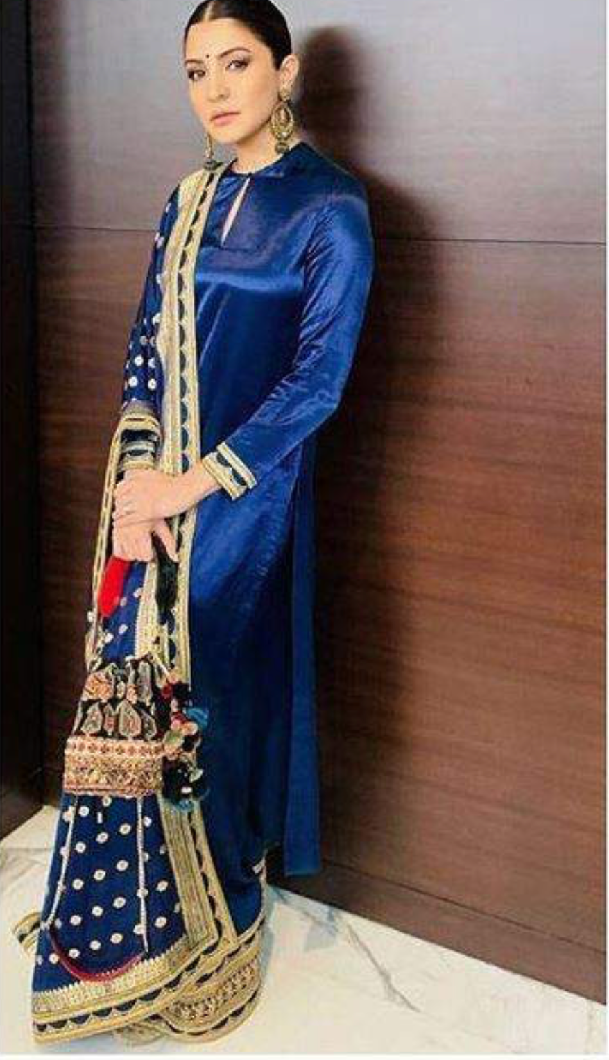 Sabyasachi Anushka Royal Blue suit - The Grand Trunk