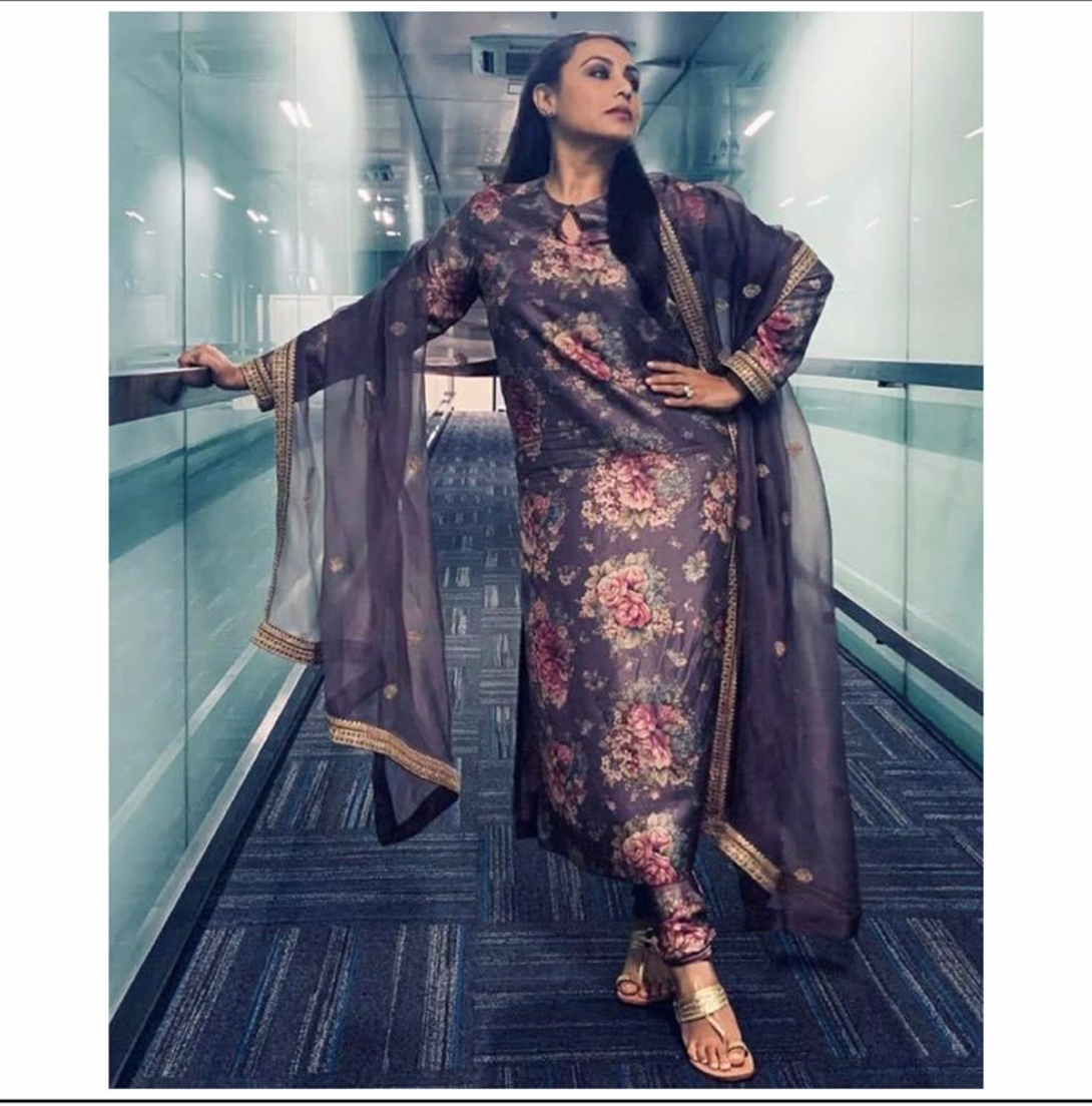 Rani Mukherjee in Sabyasachi suit - The Grand Trunk