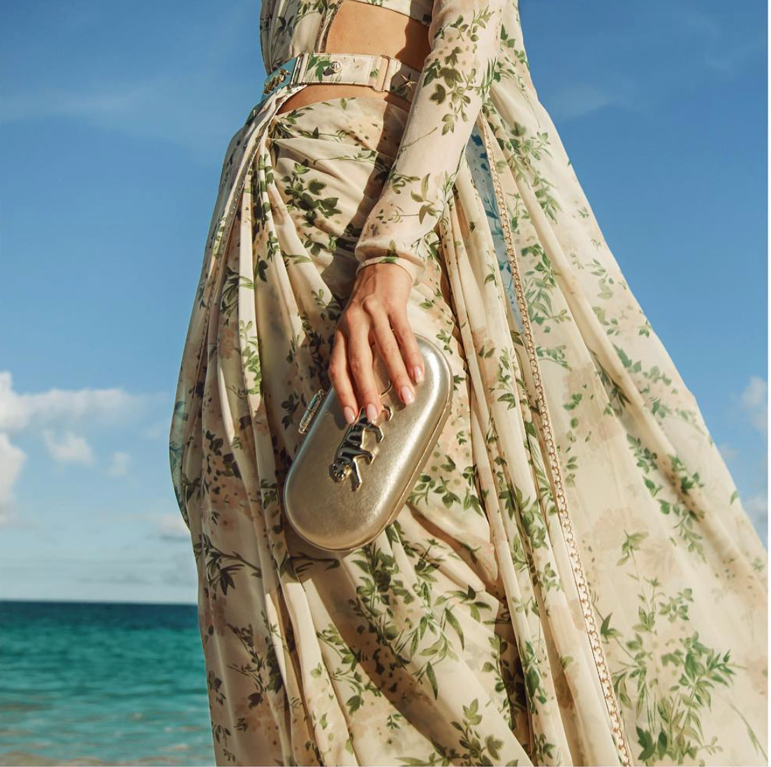 Sabyasachi Mettalic Clutch - The Grand Trunk