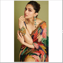 Load image into Gallery viewer, Deepika in Sabyasachi hand painted Sari - The Grand Trunk