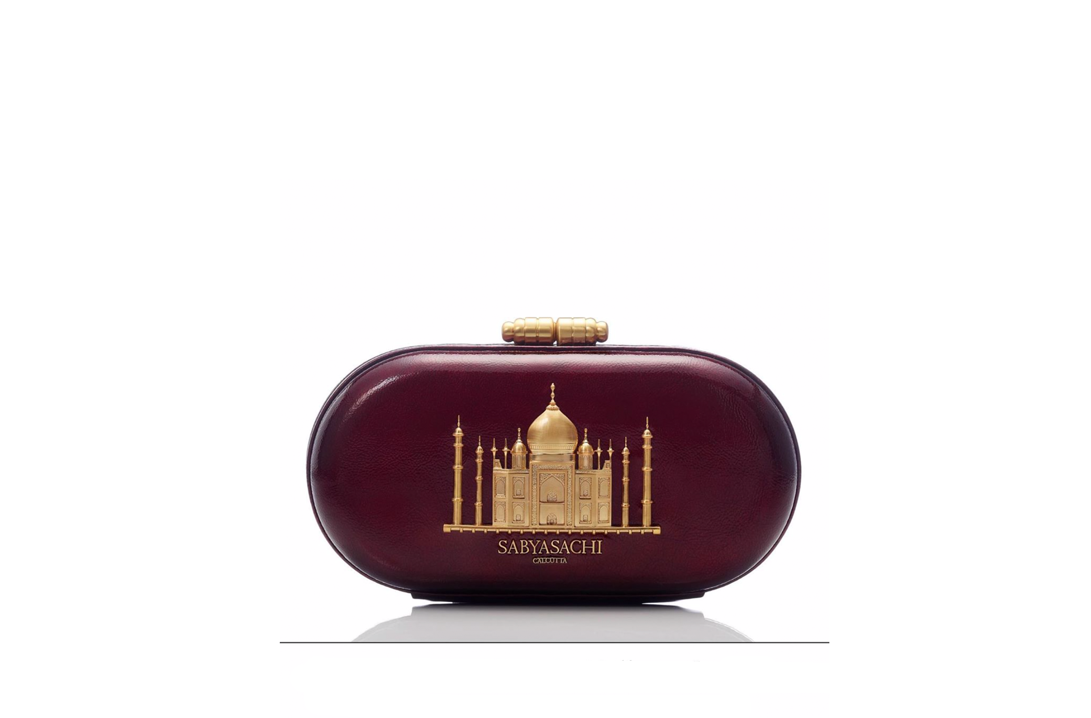 Sabyasachi Taj Minaudiere in Mulberry Clutch - The Grand Trunk