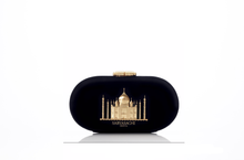 Load image into Gallery viewer, Sabyasachi Taj Minaudiere in Noir Velvet Clutch - The Grand Trunk