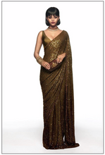 Load image into Gallery viewer, Sabyasachi Summer 2020 Modern Reception sari - The Grand Trunk