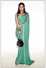 Load image into Gallery viewer, Sabyasachi Summer 2020 Dirty Martini Cocktail Sari - The Grand Trunk