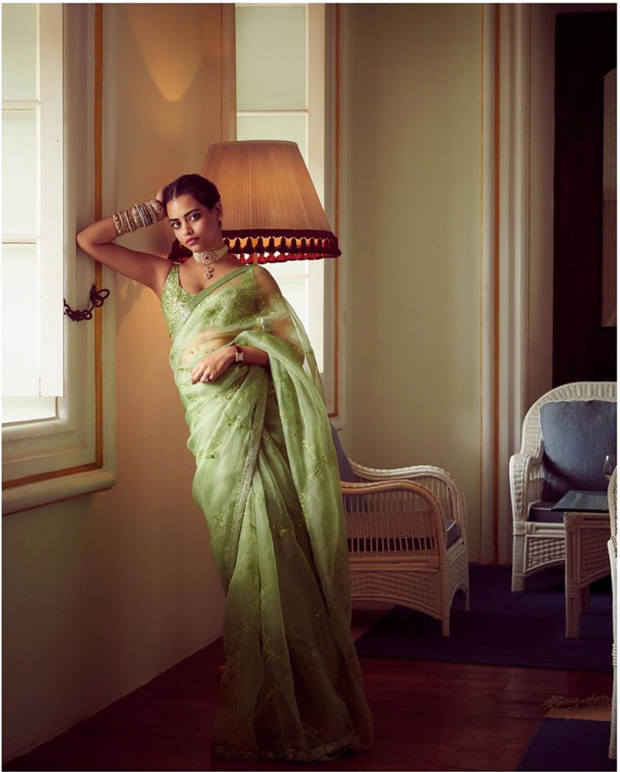 Sabyasachi Summer 2020 Summer Embroidered Organza Sari Destination Weddings - The Grand Trunk