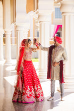 Load image into Gallery viewer, Real Bride Simi in Anushree Reddy @The Grand Trunk - The Grand Trunk