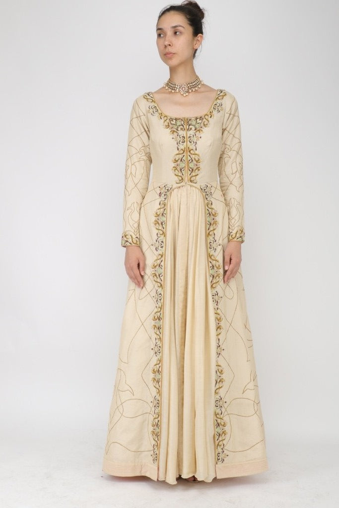 Embroidered Panelled Anarkali - The Grand Trunk