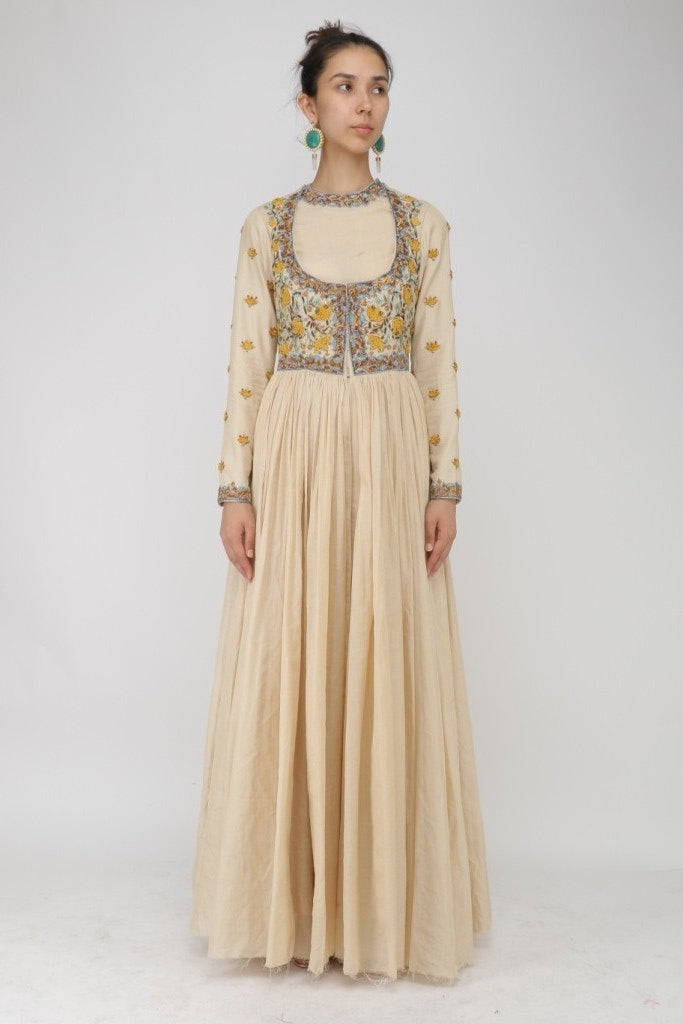 Choli-style Embroidered Anarkali. - The Grand Trunk