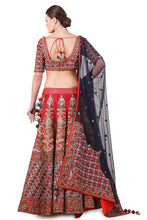 Load image into Gallery viewer, Embroidered Lehenga, blouse & dupatta set