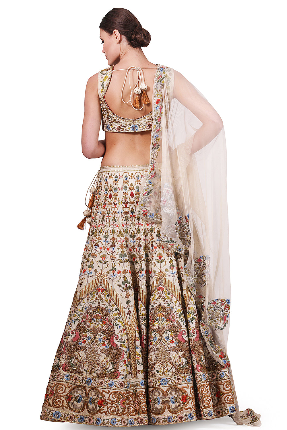 Embellished Lehenga, Blouse & Dupatta set - The Grand Trunk