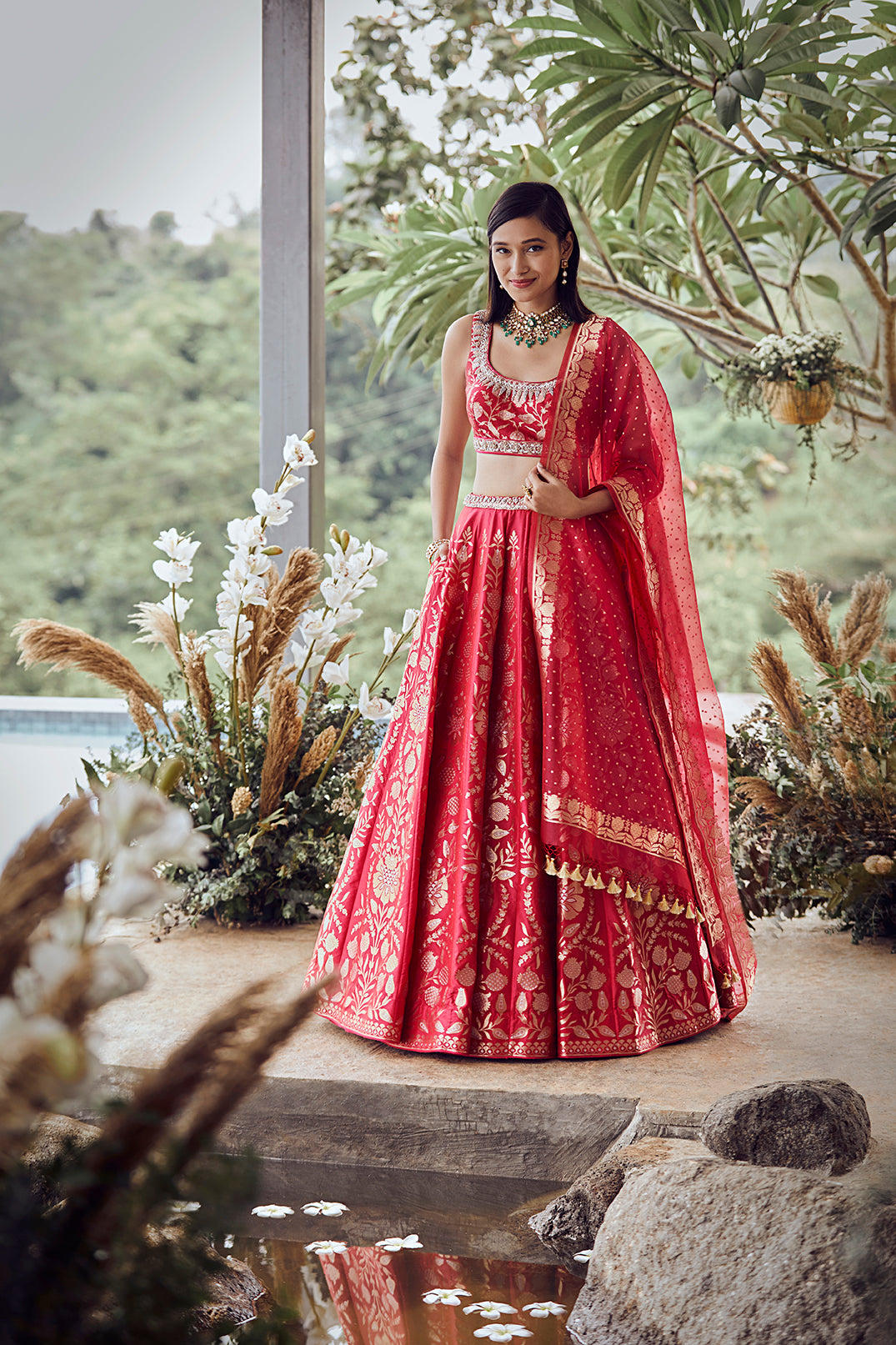 Rootra Lehenga Red - The Grand Trunk