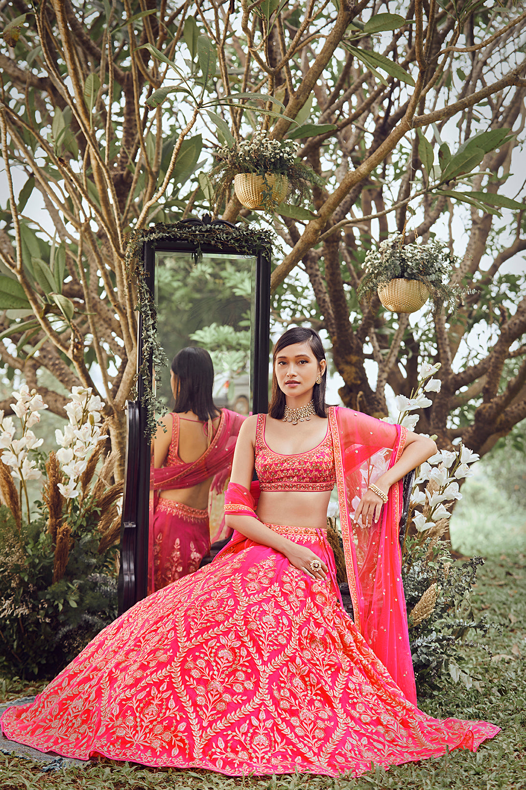 Hanika Lehenga - Pink - The Grand Trunk