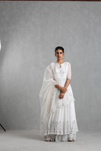 Load image into Gallery viewer, White Embellished Anarkali And Sharara Set - The Grand Trunk