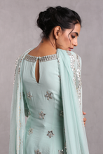Load image into Gallery viewer, Esha Koul Aqua blue Embroidered Sharara Set - The Grand Trunk
