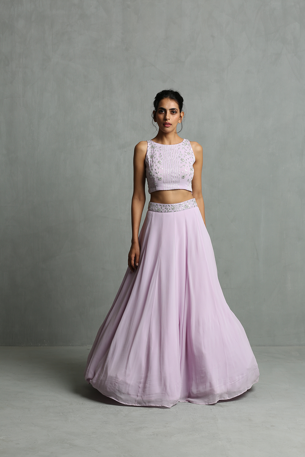 Lavinder Halter Neck Crop Top & Skirt Set - The Grand Trunk