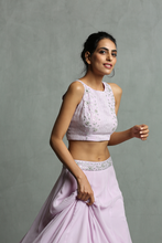 Load image into Gallery viewer, Lavinder Halter Neck Crop Top & Skirt Set - The Grand Trunk