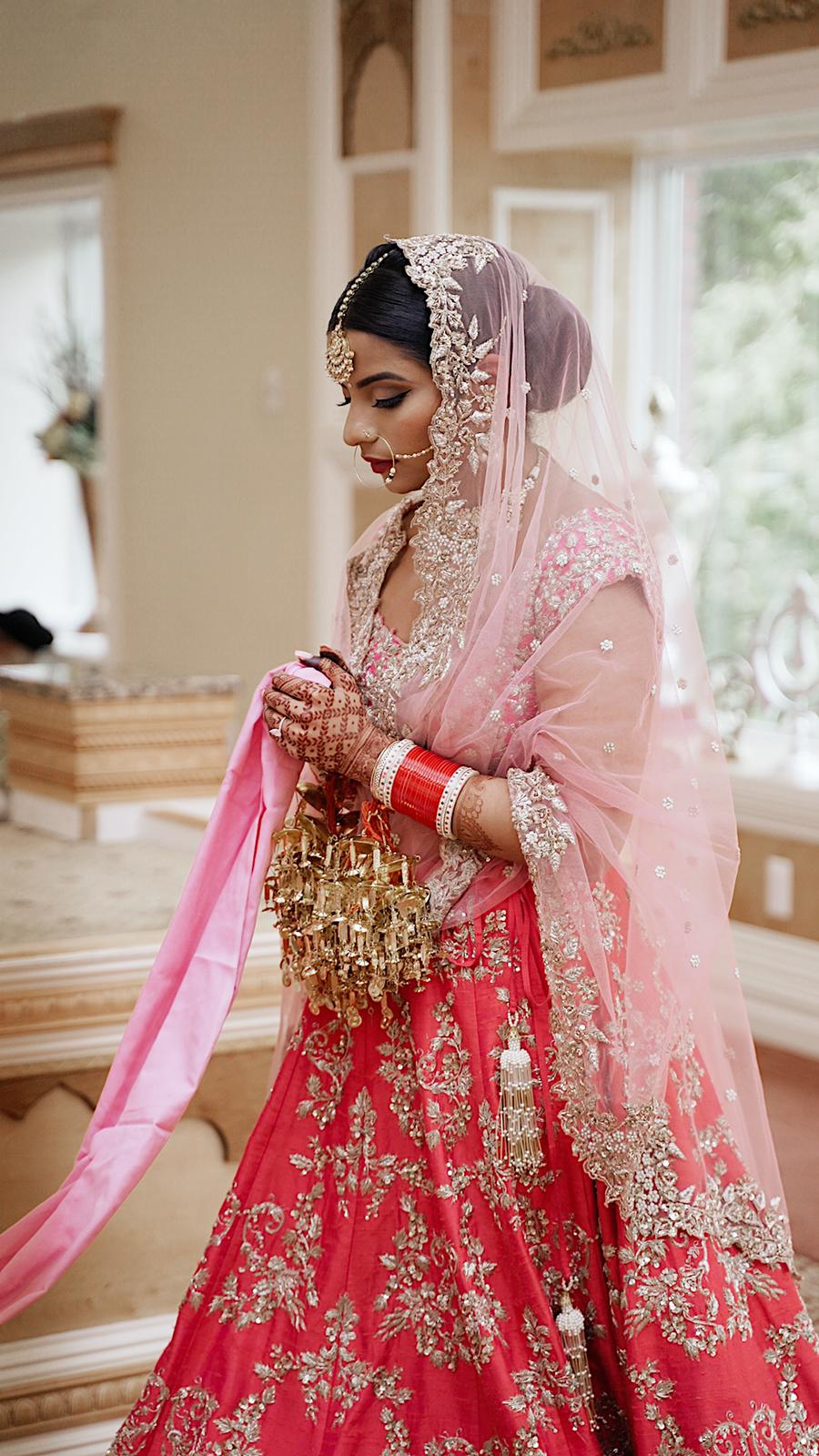 Real Bride Eshu in Anushree Reddy Lehenga @ The Grand Trunk - The Grand Trunk