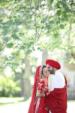 Load image into Gallery viewer, Real Bride Nav and Groom Iqbal in Sabyasachi @The Grand Trunk - The Grand Trunk