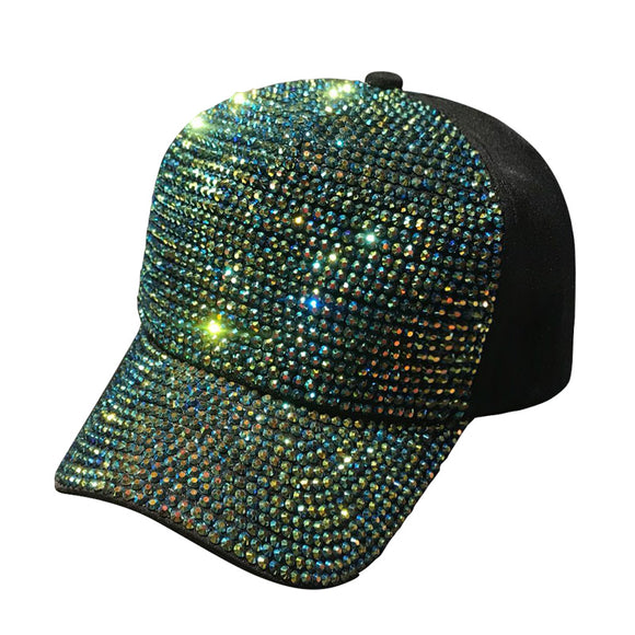 2018 Rhinestones luxury pearl Sequins Baseball Cap For Women Summer Cotton  Hat Girls Snapback Hip hop 2e428d9a903e