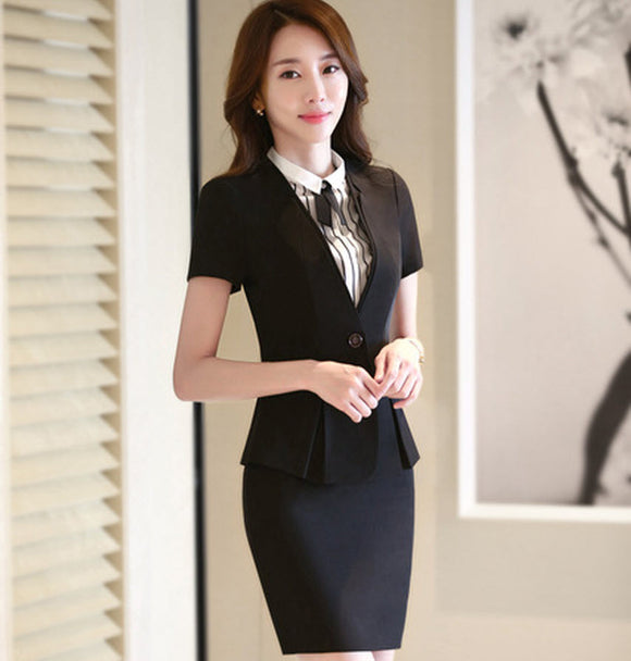 3610fb3c1527 Windreama Summer Blazers Women Elegant Skirt Suits Womens Business Office  Style Skirt Suit Lady Uniform Design