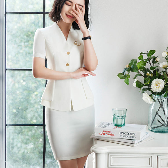 3f5aa211dd3 2018 New Arrival Summer Women Suits Multi-Color Two Piece Sets Short  Sleeves New Fashion