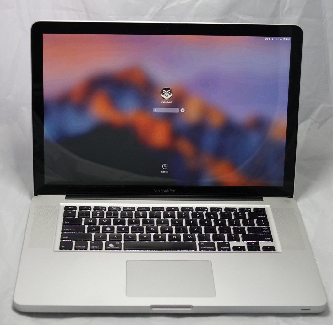 Apple Macbook Pro 15in (2011) - Core i7 - 8GB - 500GB HDD - macOS High Sierra