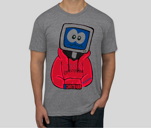 PopeADope Computerman Tee (Grey/Red/Blue)