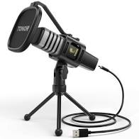 USB Microphone, TONOR Condenser Computer PC Mic with Tripod Stand, Pop Filter