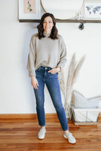 Load image into Gallery viewer, Taupe Mock Neck Pullover