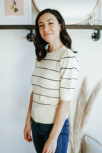 Load image into Gallery viewer, Short Sleeve Striped Sweater