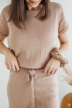 Load image into Gallery viewer, Tan Two Piece Sweater Set