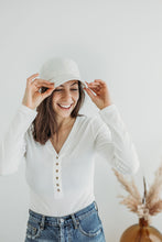 Load image into Gallery viewer, White Corduroy Hat