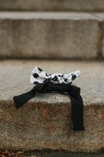 Load image into Gallery viewer, Black Bow Scrunchie