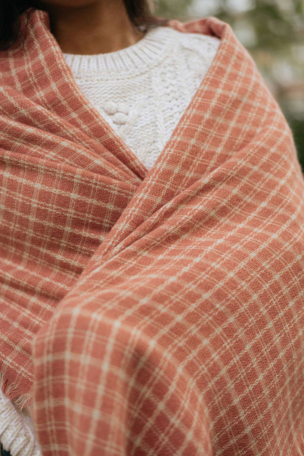 Rose Tattersall Blanket Scarf