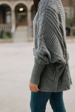 Load image into Gallery viewer, Grey Loose Fit Cable Knit Cardigan - The Ronda