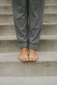 Grey High Waist Jogger - The Frida Joggers