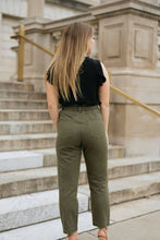 Load image into Gallery viewer, Olive High Waist Pants with Tie - The Maric Pants