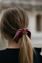Load image into Gallery viewer, Rose Glitter Bow Scrunchie