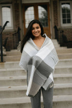 Load image into Gallery viewer, Grey/Beige Textured Blanket Scarf