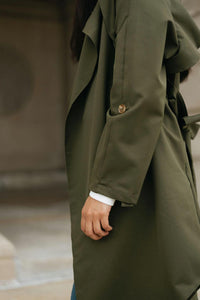 Olive Tie-waist Trench - The Victoria