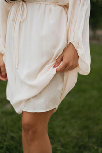 Blush/Cream Lace Trim Dress - The Ida Dress