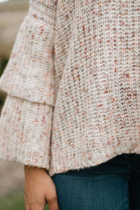 Layered Sleeve Multi Color Knit Top, Light Pink - The Hamilton Knit