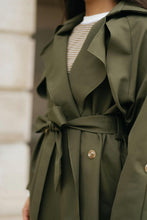 Load image into Gallery viewer, Olive Tie-waist Trench - The Victoria